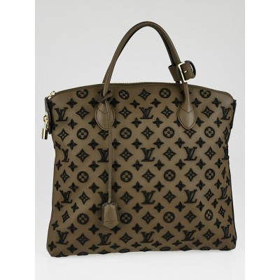 Louis Vuitton Limited Edition Brown Monogram Addiction Lockit Vertical MM Bag