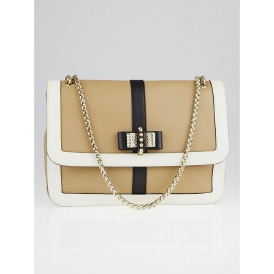 Christian Louboutin Beige Leather Large Sweet Charity Bag