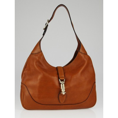 Gucci Brown Leather New Jackie Medium Hobo Bag