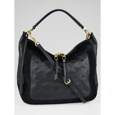 Louis Vuitton Black Monogram Empreinte Leather Audacieuse MM Bag