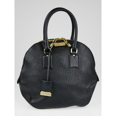 Burberry Black Grain Leather Medium Orchard Bag