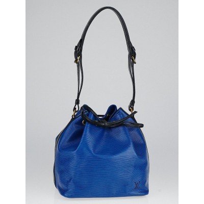 Louis Vuitton Toledo Blue/Black Epi Leather Petit Noe Bag