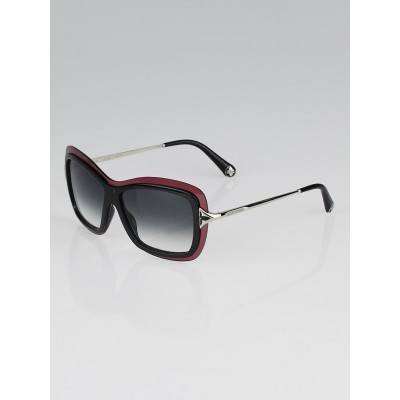 Louis Vuitton Burgundy/Black Gradient Tint Sunglasses Z0324W