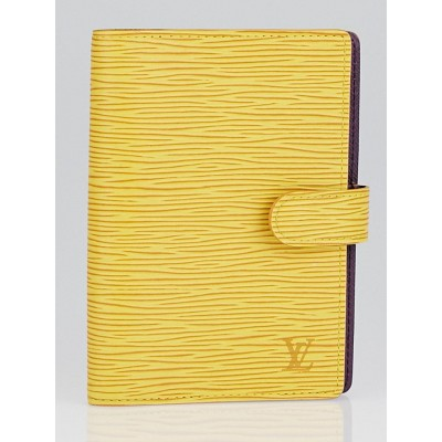 Louis Vuitton Tassil Yellow Epi Leather Small Agenda/Notebook