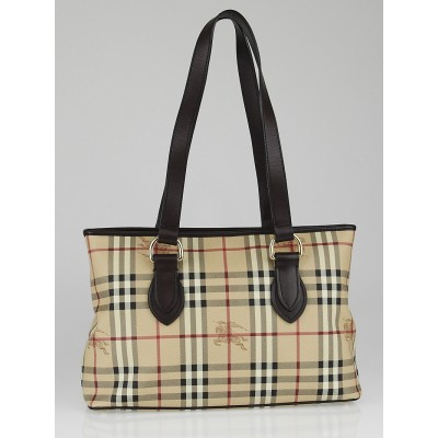 Burberry Haymarket Check Coated Canvas Medium Regent Tote Bag