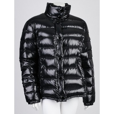 Moncler Black Quilted Nylon Down Jacket Size 5/XXL