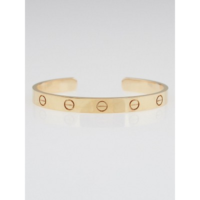Cartier 18k Pink Gold Open Love Bracelet Size 16