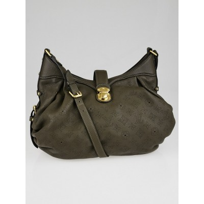 Louis Vuitton Gris Elephant Monogram Mahina Leather XS Bag