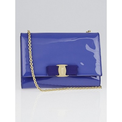 Salvatore Ferragamo New Iris Patent Leather Miss Vara Chain Shoulder Bag
