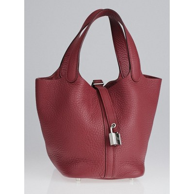 Herme Boi de Rose Clemence Leather Picotin Lock PM Bag
