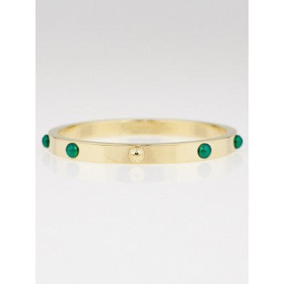Louis Vuitton Emerald Lacquer and Metal Gimme a Clue Bangle Bracelet Size M