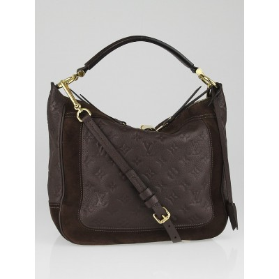 Louis Vuitton Chocolat Monogram Empreinte Leather Audacieuse PM Bag