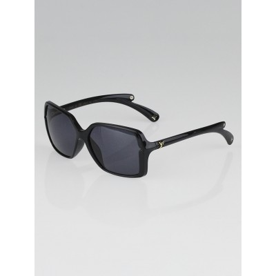 Louis Vuitton Black Resin Frame Flore Carre Sunglasses-Z0287E
