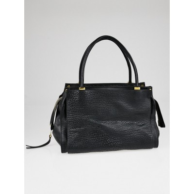 Chloe Black Pebbled Leather Dree Large Tote Bag