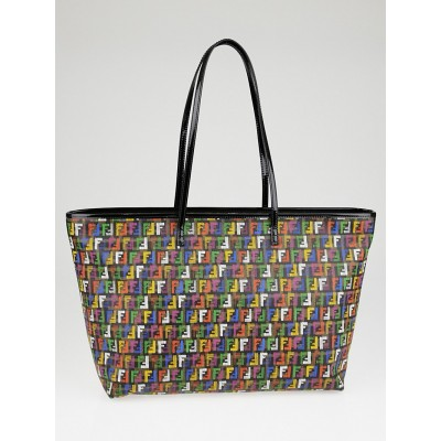 Fendi Multicolor Zucchino Coated Canvas Roll Tote Bag 8BH185