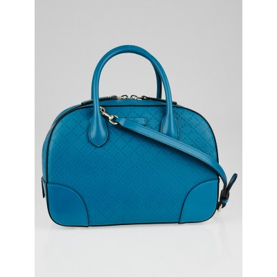 Gucci Turquoise Diamante Textured Leather