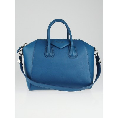 Givenchy Teal Sugar Goatskin Leather Medium Antigona Bag