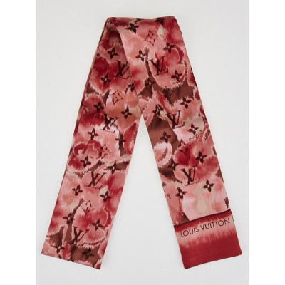 Louis Vuitton Rose Ikat Silk Bandeau Scarf