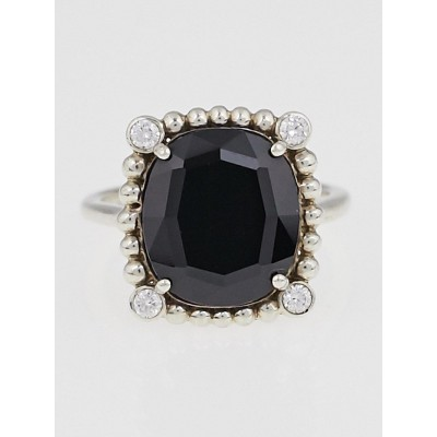 Tiffany Amp Co Black Spinel And Sterling Silver Ziegfeld