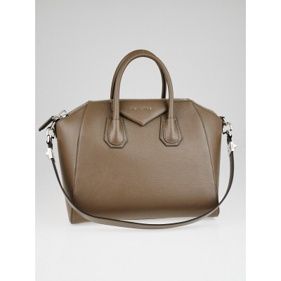 Givenchy Beige Sugar Goatskin Leather Medium Antigona Bag