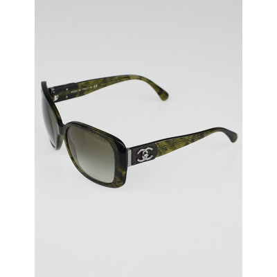 Chanel Green/Black Square Frame CC Logo Sunglasses-5234-Q