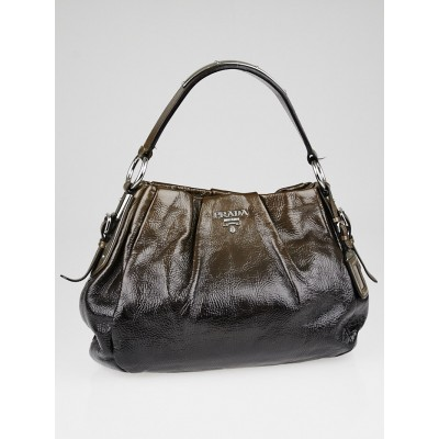 Prada Brown Vernice Sfumata Leather Shoulder Bag
