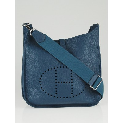 Hermes Colvert Clemence Leather Evelyne III GM Bag
