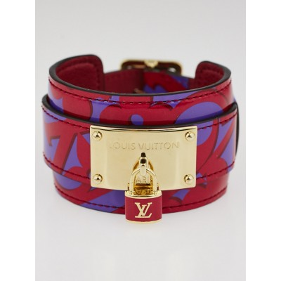 Louis Vuitton Red/Purple Monogram Vernis Sweet Monogram Infinit Bracelet