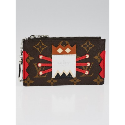 Louis Vuitton Limited Edition Monogram Tribal Mask Pochette Cles Key and Change Holder