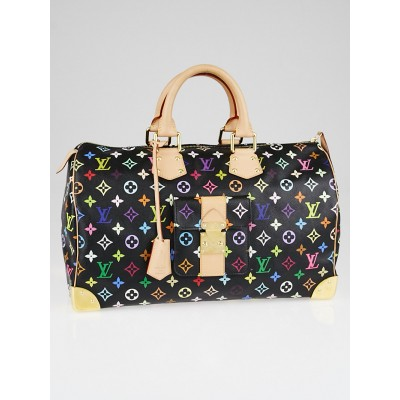 Louis Vuitton Black Monogram Multicolore Keepall 40 Bag