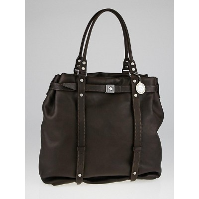Lanvin Brown Calfskin Leather Kentucky Tote Bag