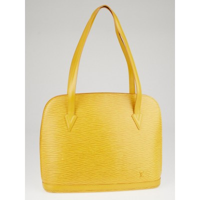 Louis Vuitton Tassil Yellow Epi Leather Lussac Tote Bag