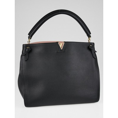 Louis Vuitton Black Leather Tournon Hobo Bag