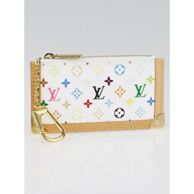 Louis Vuitton White Multicolore Monogram Canvas Key and Change Holder