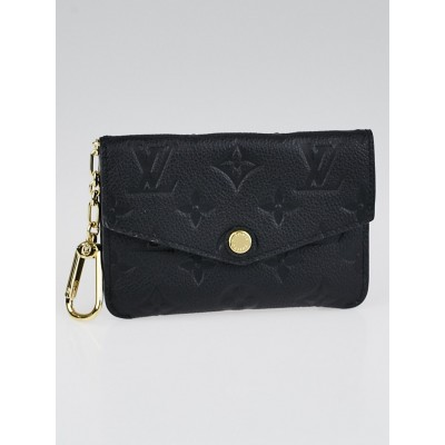 Louis Vuitton Black Monogram Empreinte Leather Pochette Cles Key and Change Holder