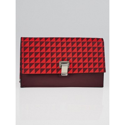 Proenza Schouler Poppy/Pinot Noir Leather Extra Small Lunch Clutch Bag