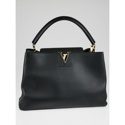 Louis Vuitton Black Taurillon Leather Capucines GM Bag