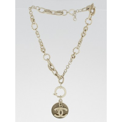 Chanel Goldtone No. 5 and CC Pendant Necklace