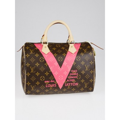 Louis Vuitton Limited Edition Grenade Monogram V Speedy 30 Bag