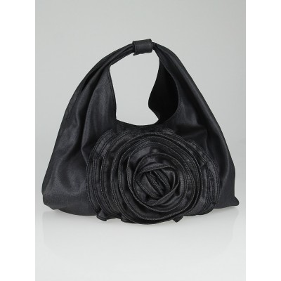 Valentino Denim Petale Rose Hobo Bag