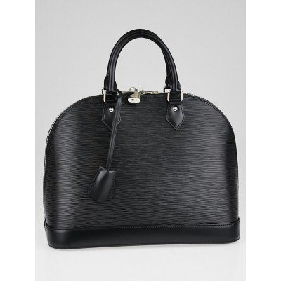 Louis Vuitton Black Epi Leather Alma MM Bag