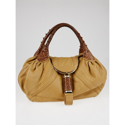 Fendi Brown Nappa Leather Spy Bag