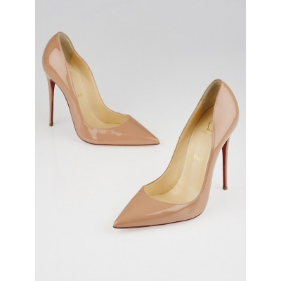 Christian Louboutin Nude Patent Leather So Kate 120 Pumps Size 9/39.5