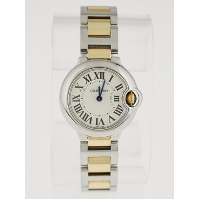 Cartier 28mm Stainless Steel and 18k Gold Ballon Bleu de Cartier Quartz Watch W6920034
