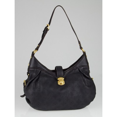 Louis Vuitton Black Monogram Mahina Leather XS Bag