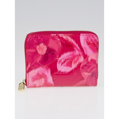 Louis Vuitton Limited Edition Fuchsia Monogram Vernis Ikat Zippy Coin Purse