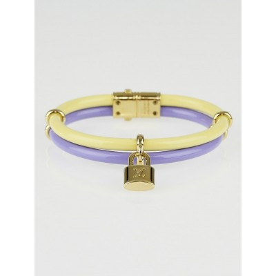 Louis Vuitton Citron/Lavender Vernis Leather Keep It Twice Bracelet