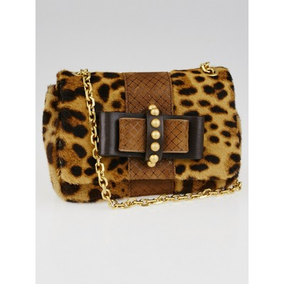Christian Louboutin Leopard Print Pony Hair Sweet Charity Mini Bag