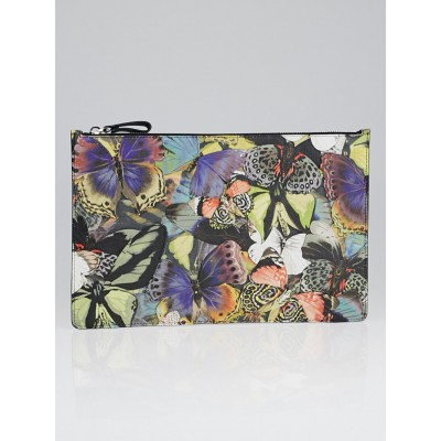 Valentino Multicolor Canvas and Leather Camubutterfly Clutch Bag