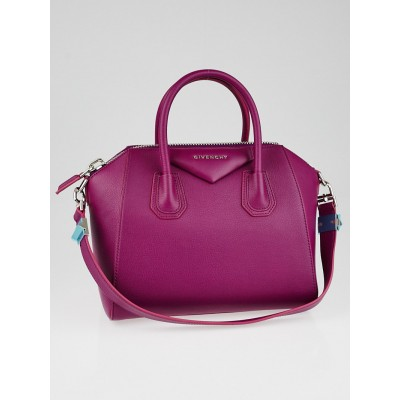 Givenchy Magenta Sugar Goatskin Leather Small Antigona Bag